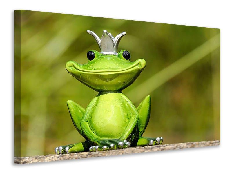 Leinwandbild Herr Frosch König