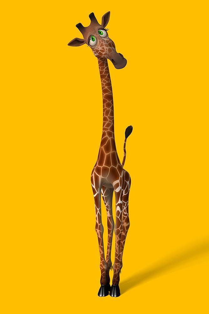 Leinwandbild Giraffensweety