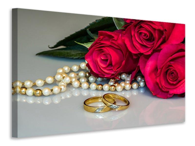 Leinwandbild Die Ringe der Liebe