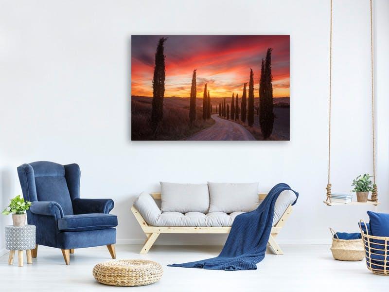 Leinwandbild Tuscany Sunset