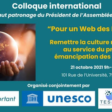 """Colloque international """"Pour un Web des Lumières"""""""