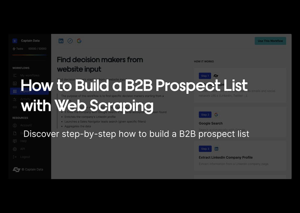 How to Build a B2B Prospect List with Web Scraping