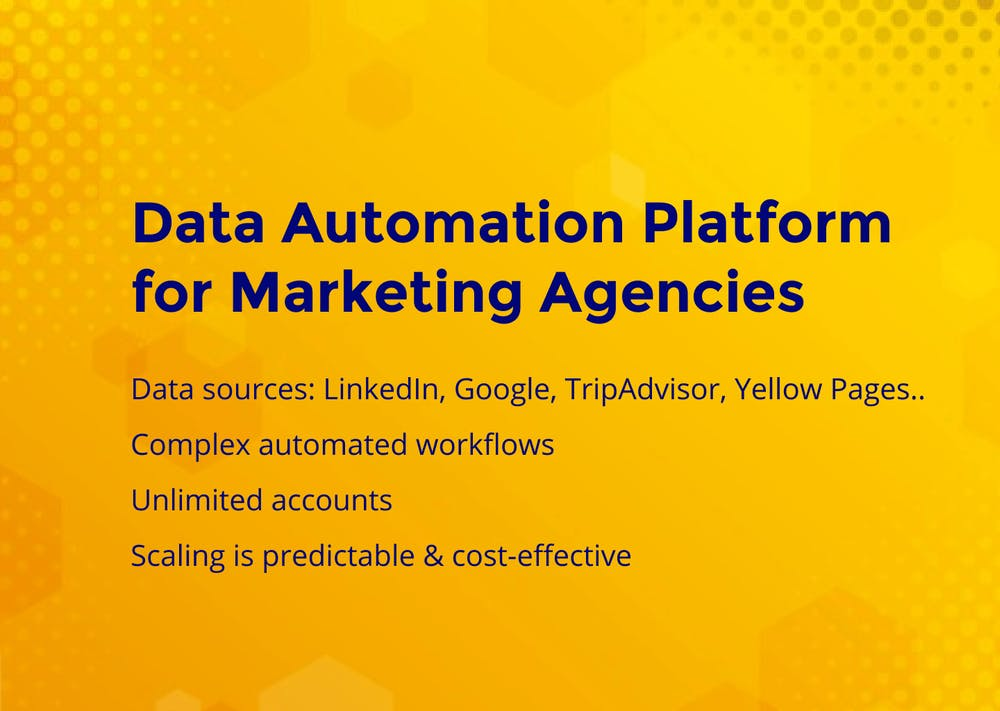 Data Automation Platform for Marketing Agencies