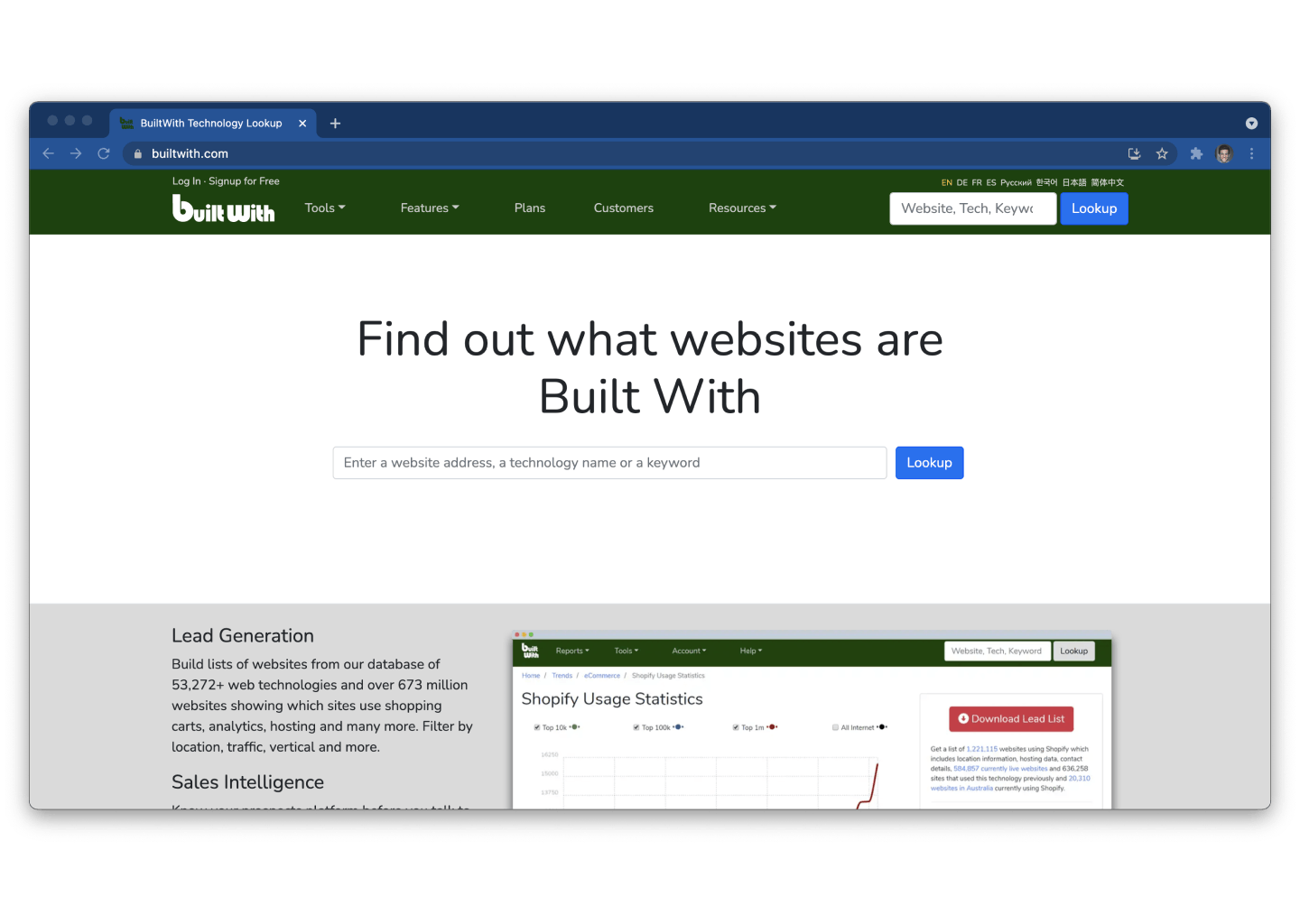 Web Scraping BuiltWith