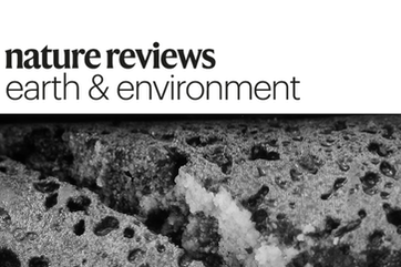 Front page of Nature Reviews  with a picture of Carbfix drill core.