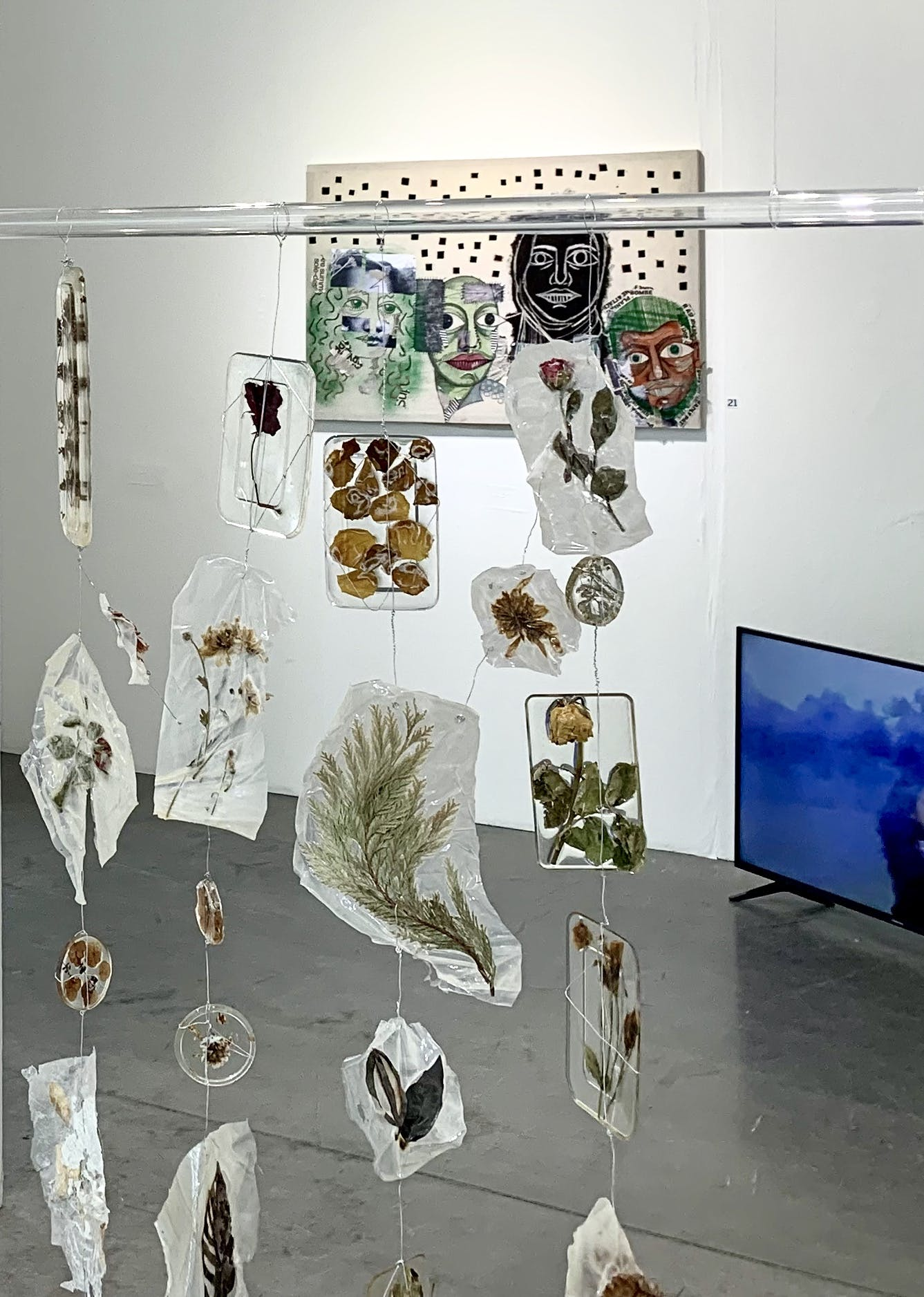 Collage, wallhanging and video work - Salma Nassef