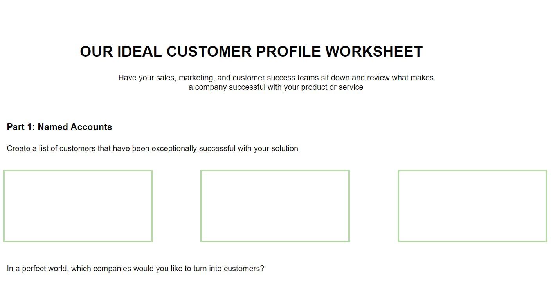 Ideal Customer Profile Template