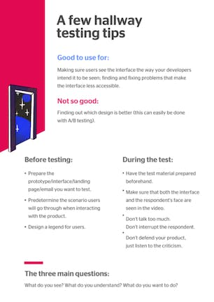 A few hallway testing tips