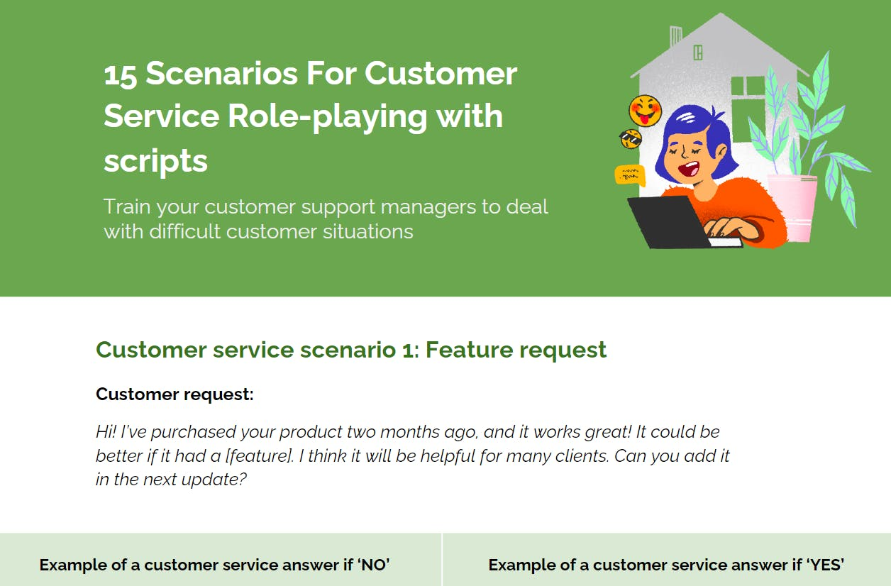 15 Scenarios For Customer Service Role-playing with scripts