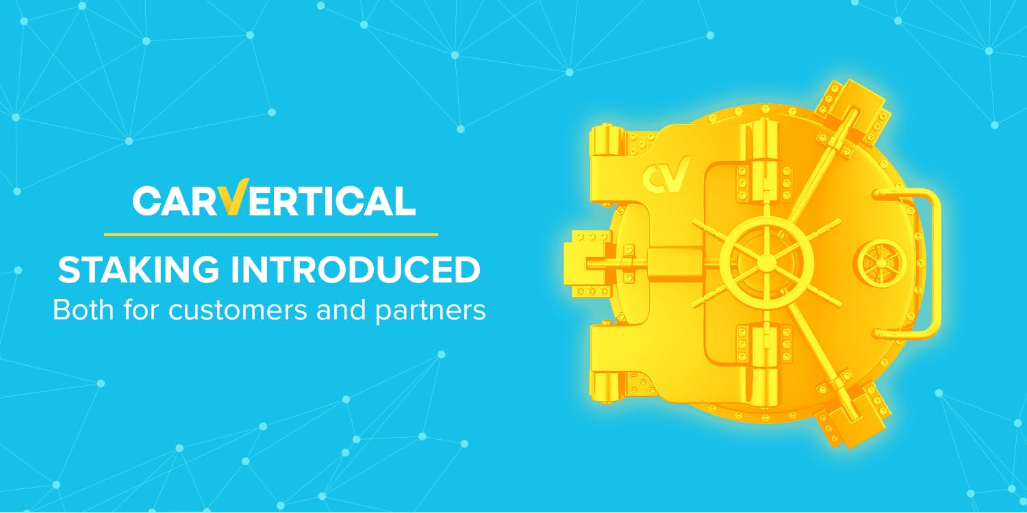 WIN-WIN: carVertical implements staking mechanisms