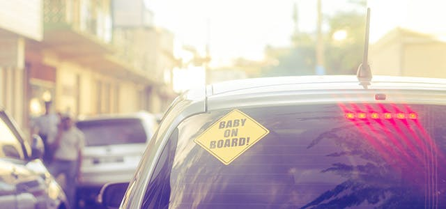 Slow Down! 'Baby on Board' Car Signs