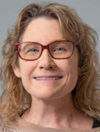 Decorative: Headshot of Dr. Patricia Princehouse, Director, Program in Evolutionary Biology