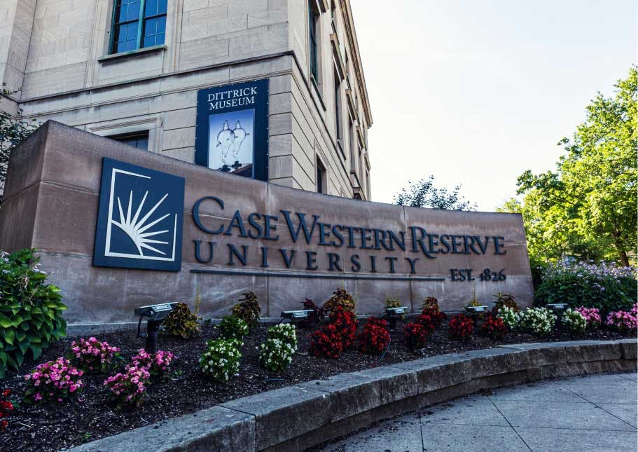 Case Western Reserve University campus.