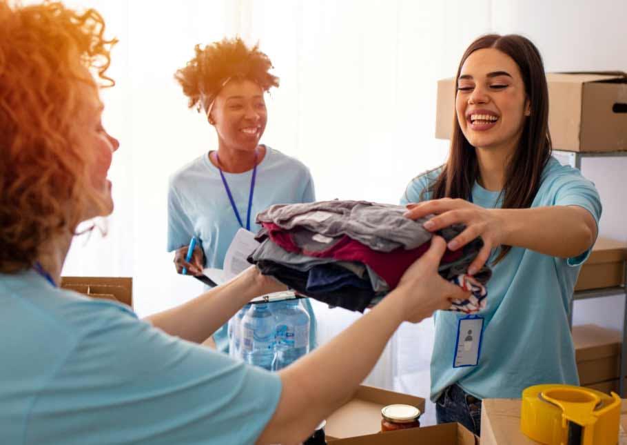 Female Entrepreneurs handling clothing