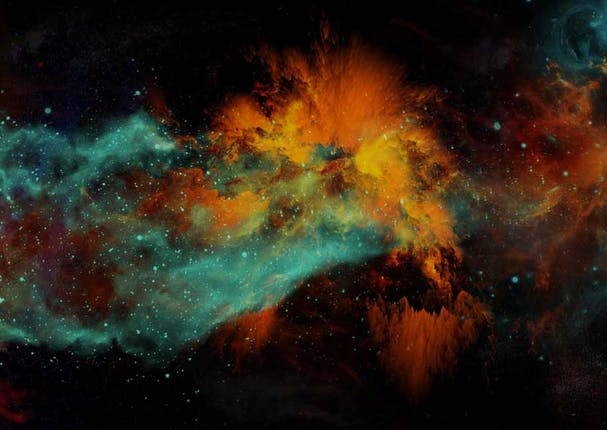 Decorative: the galaxy and how the universe began