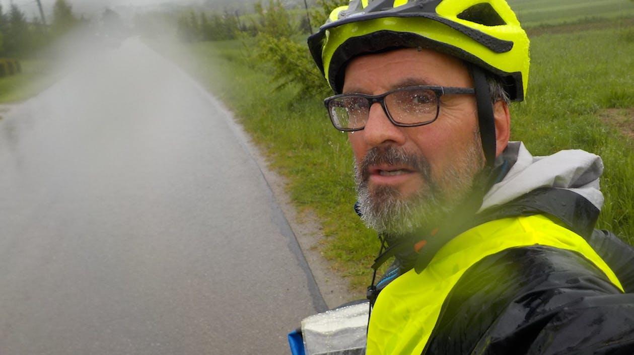 Fahrradtour im Regen