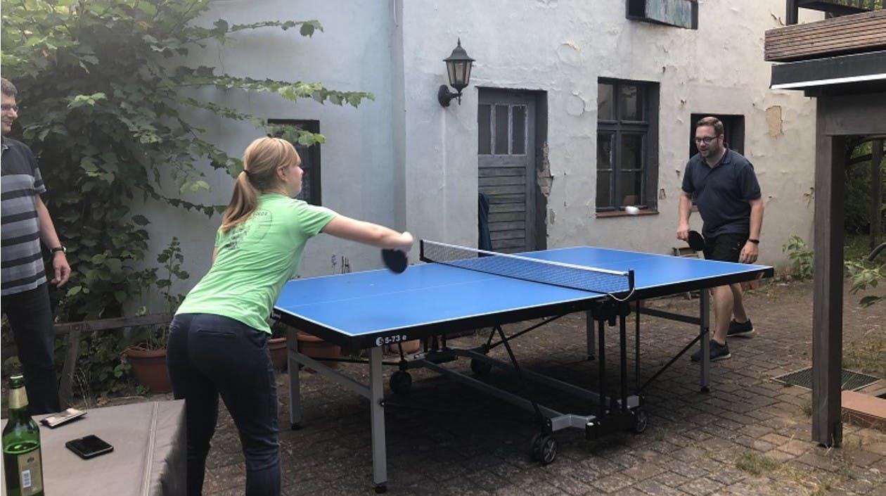 Tischtennis spielen in Lugano