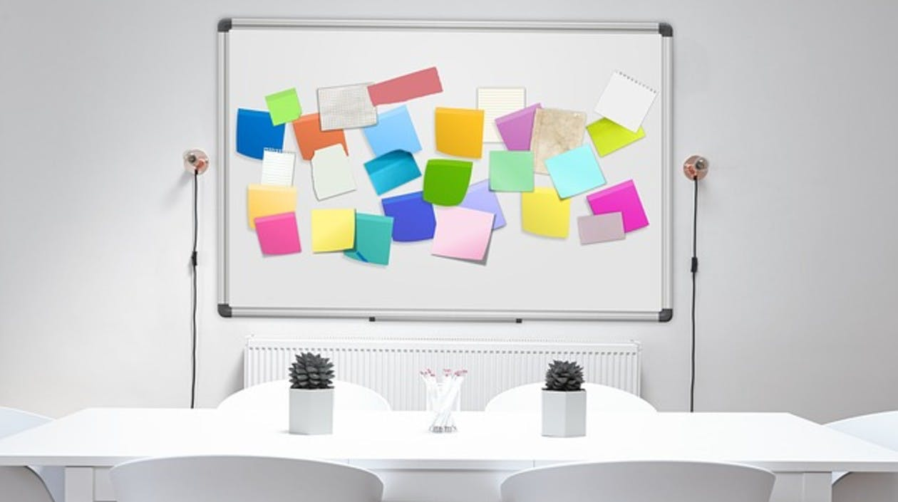 Board mit Post-its