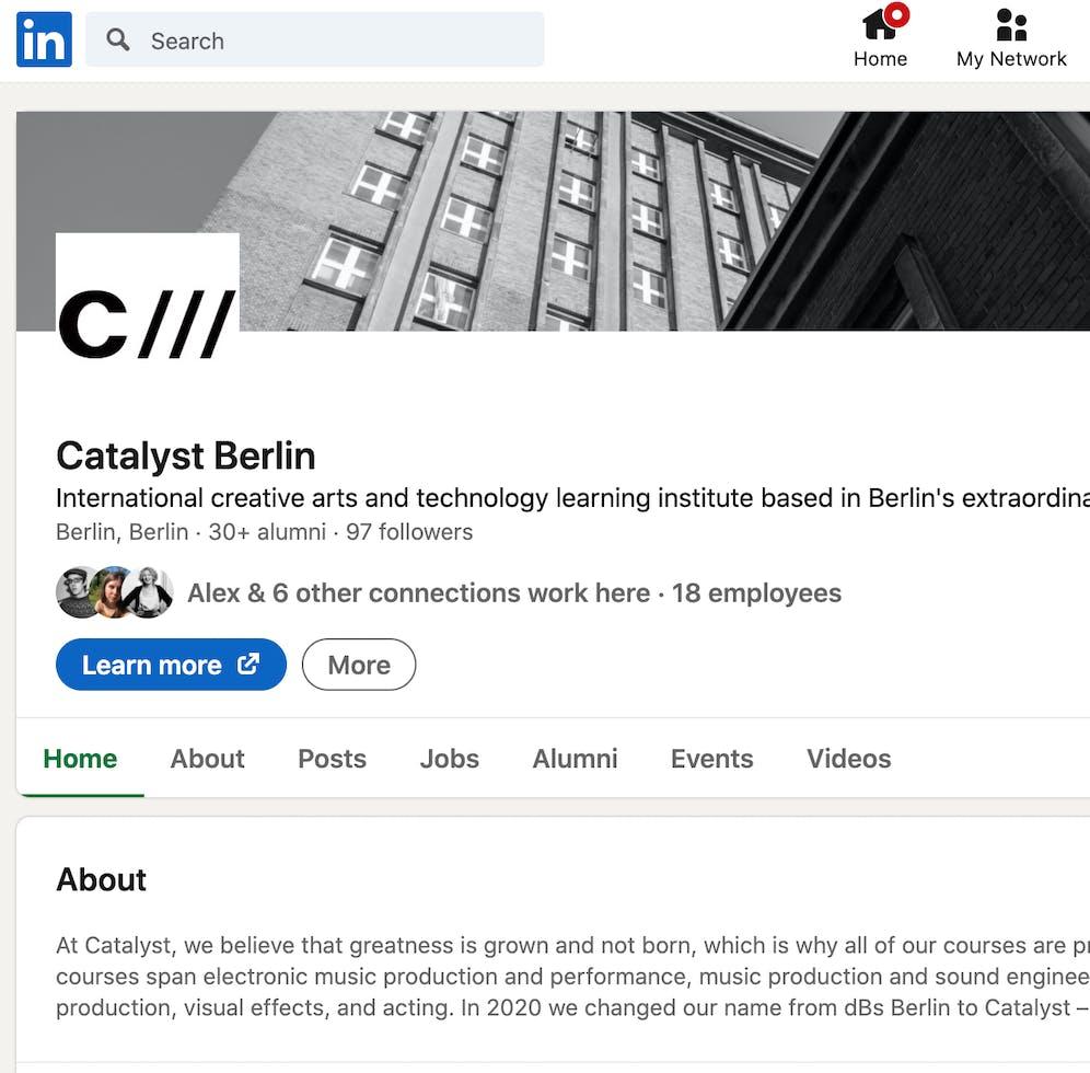 Official Catalyst Linkedin https://www.linkedin.com/school/catalyst-berlin/