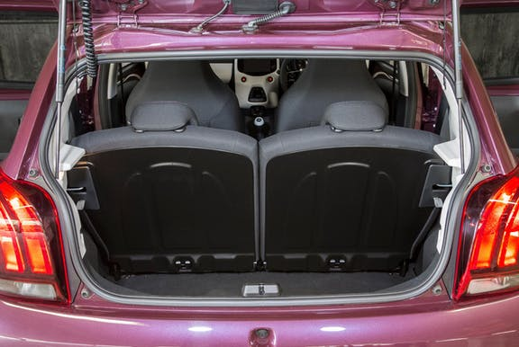 Boot space shot of the Peugeot 108