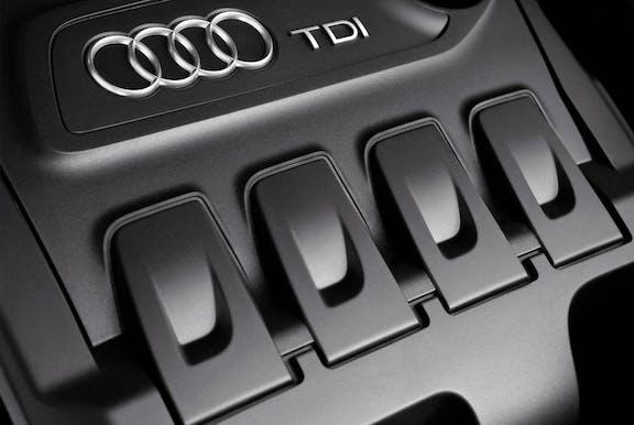 Engine shot of the Audi Q3