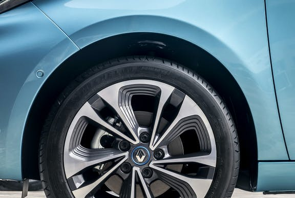 Wheel shot of the Renault Zoe