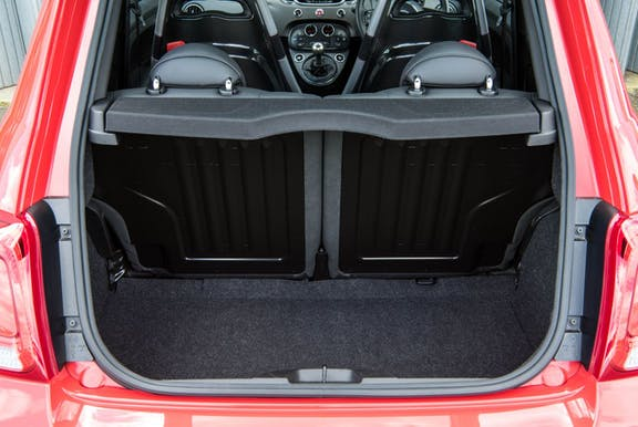 Boot shot of the Abarth 595