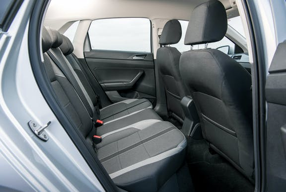 Rear seat shot of the Volkswagen Polo