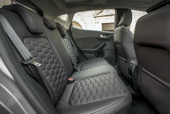 Back seat shot of the Ford Fiesta
