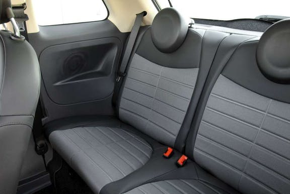 Rear seat shot of the fiat 500