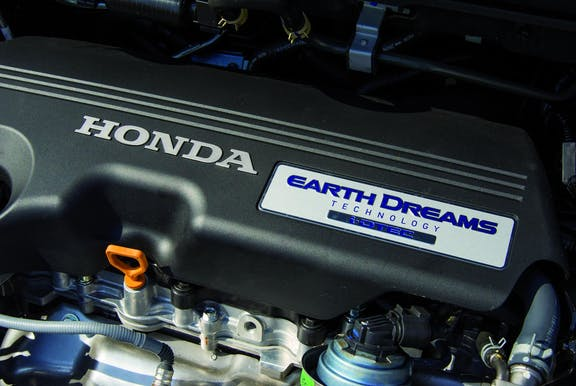 Engine shot of the Honda CR-V