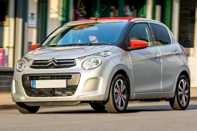 The exterior of a grey Citroen C1