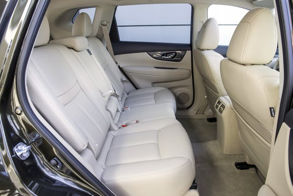 Rear seat shot of the Nissan X-Trail