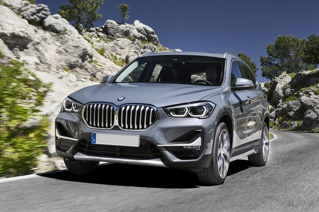 The exterior of a silver BMW X1
