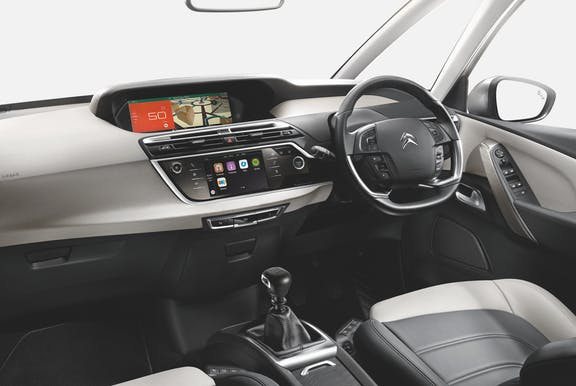 Interior shot of the Citroen Grand C4 Spacetourer