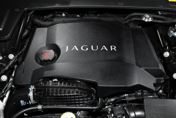 Engine shot of the Jaguar XF
