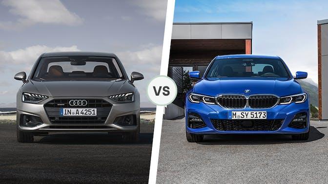 Audi A4 vs BMW 3 Series front