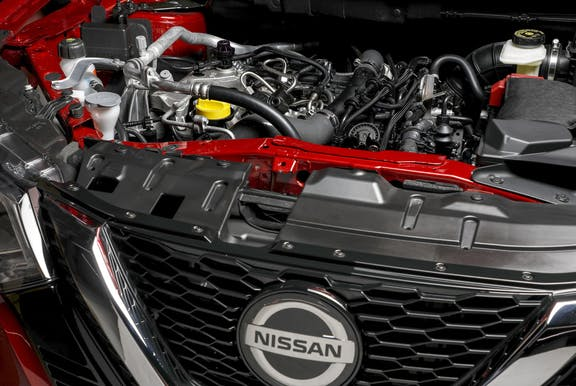 Engine shot of the Nissan Qashqai
