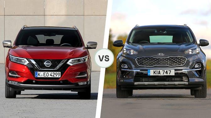 Nissan Qashqai vs Kia Sportage front