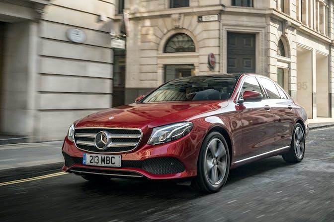 Mercedes-Benz E-Class driving