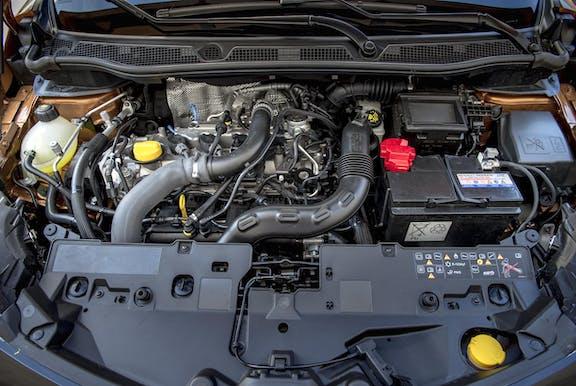 Engine shot of the Renault Captur