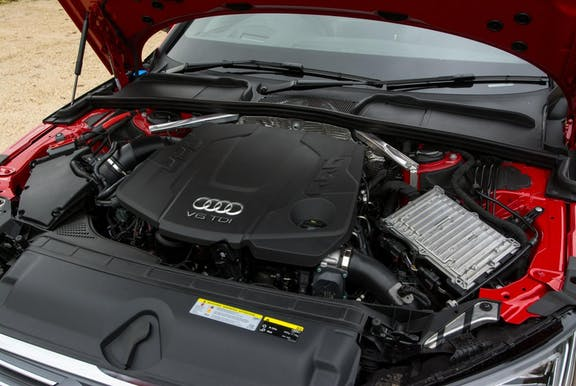 Engine shot of the Audi A4