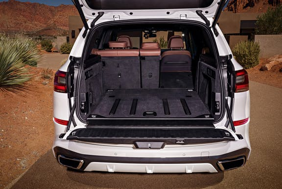 Boot space shot of the BMW X5