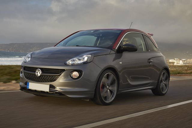The exterior of a grey Vauxhall Adam