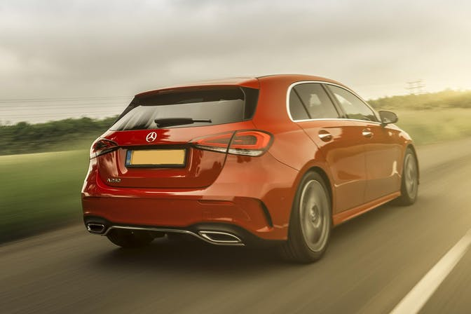 Rear external shot of the Mercedes-Benz A-Class