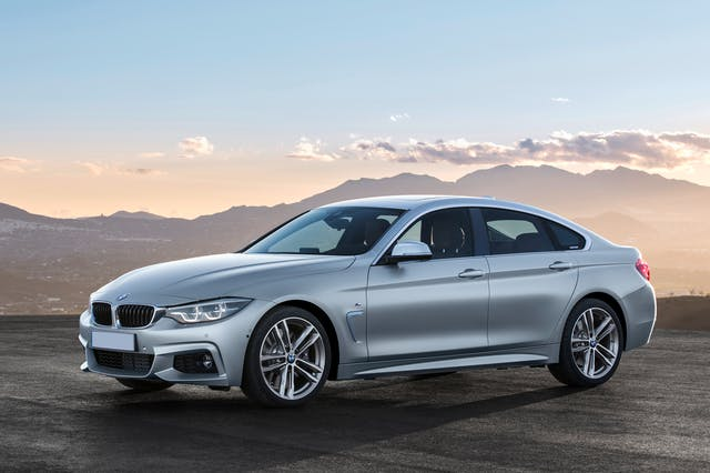 The front exterior of the BMW 4 Series Gran Coupe