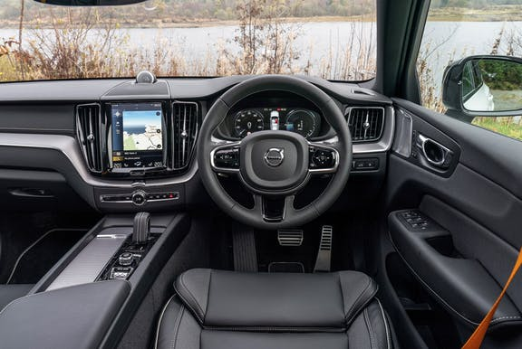Steering wheel shot of the Volvo XC60