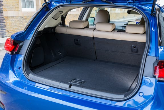 Boot space shot of the Lexus CT