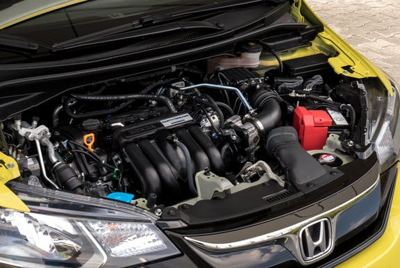 Engine shot of the Honda Jazz