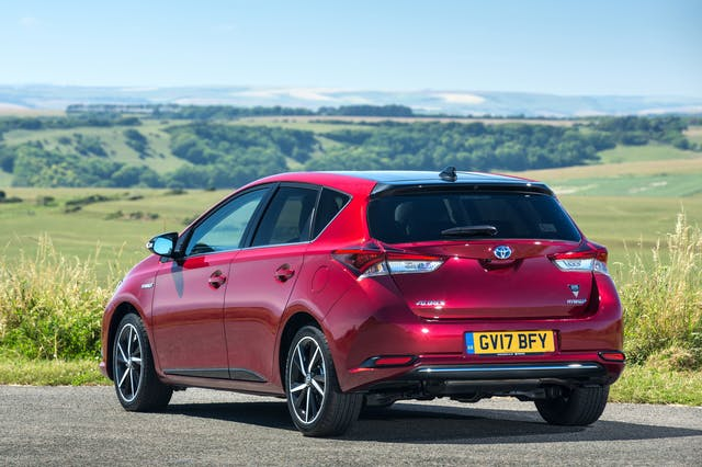 Rear exterior of the Toyota Auris